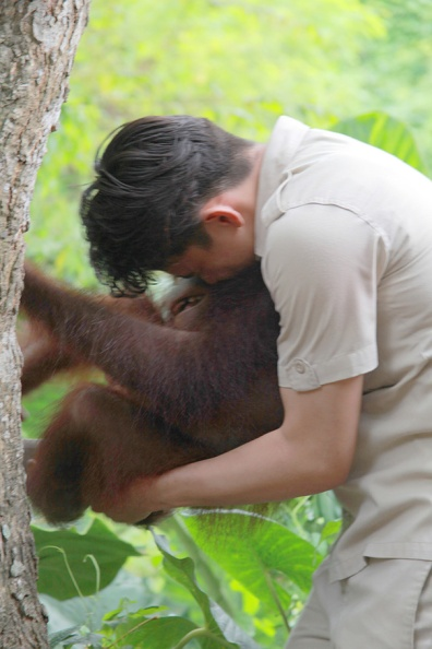 her caretaker tickling her!