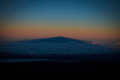 The shadow of Mauna Kea